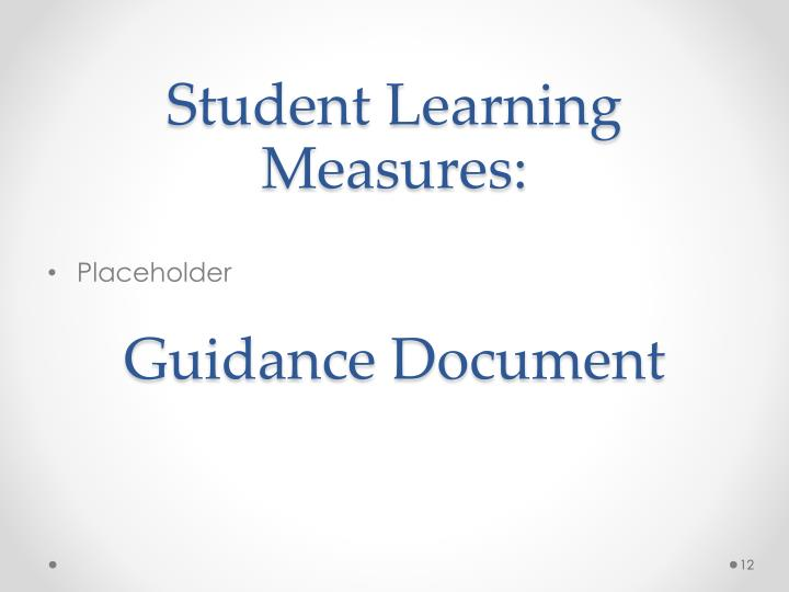 Student Learning Measures:
