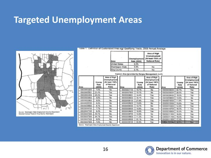 Targeted Unemployment Areas