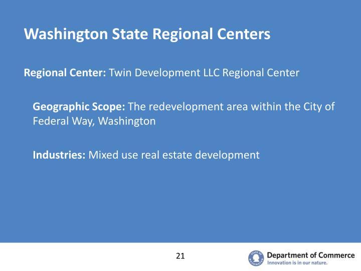 Washington State Regional Centers
