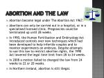abortion and the law