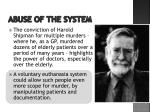 abuse of the system1