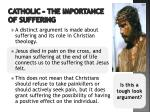 catholic the importance of suffering