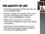 the sanctity of life1
