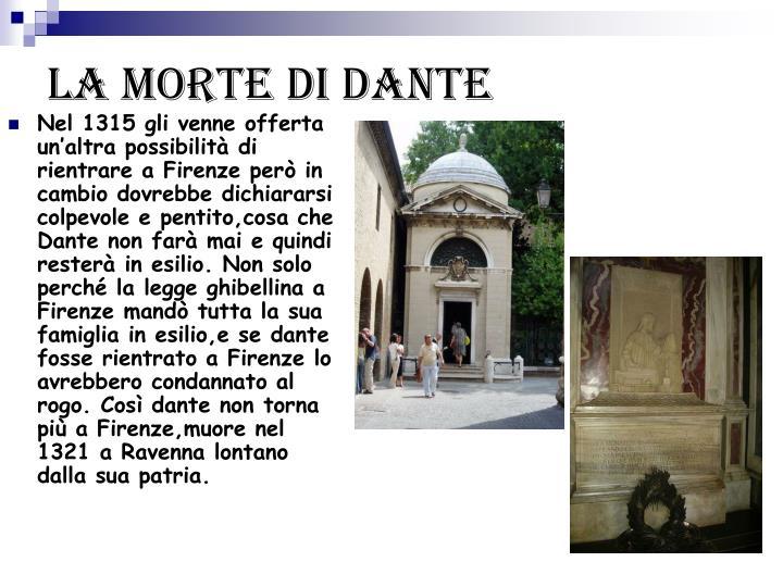 La morte di Dante