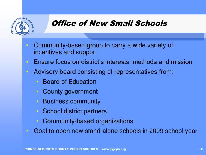 Office of New Small Schools