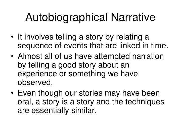Autobiographical narrative