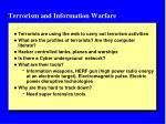terrorism and information warfare