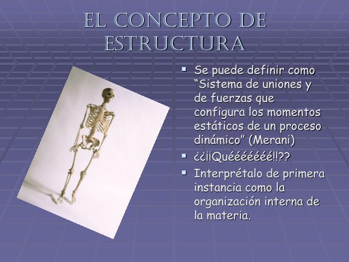 El concepto de estructura