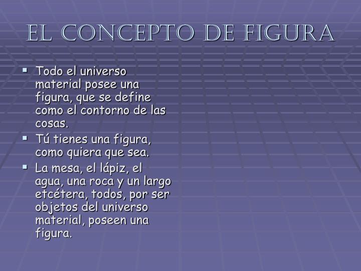El concepto de figura