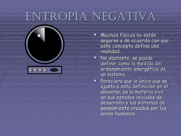 Entropía negativa