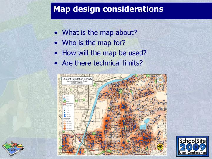 Map design considerations