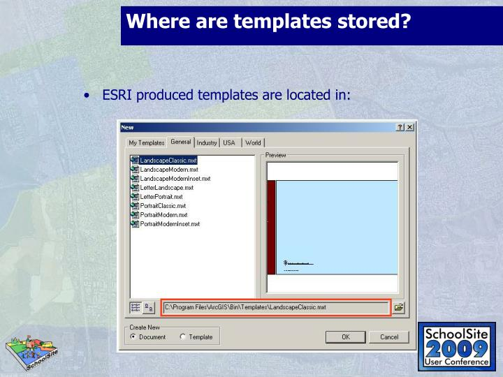 Where are templates stored?