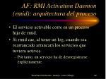 af rmi activation daemon rmid arquitectura del proceso