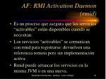 af rmi activation daemon rmid
