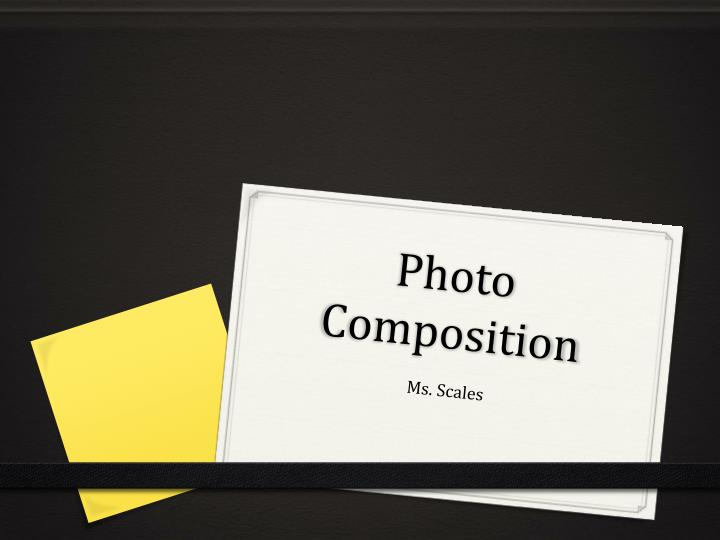 photo composition n.