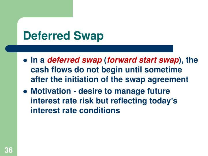 Deferred Swap
