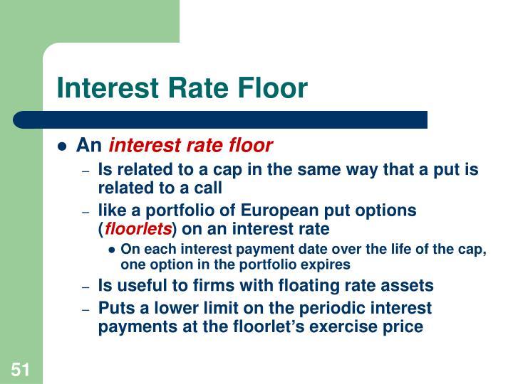 Interest Rate Floor