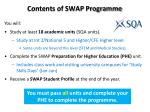 contents of swap programme