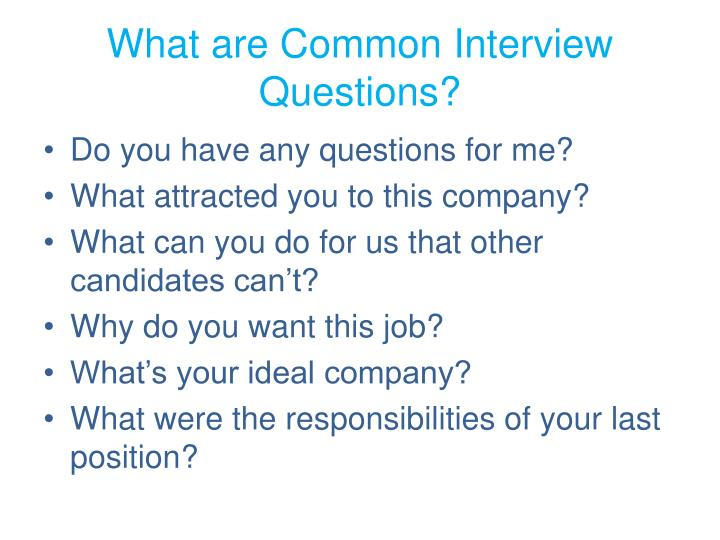 what are common interview questions
