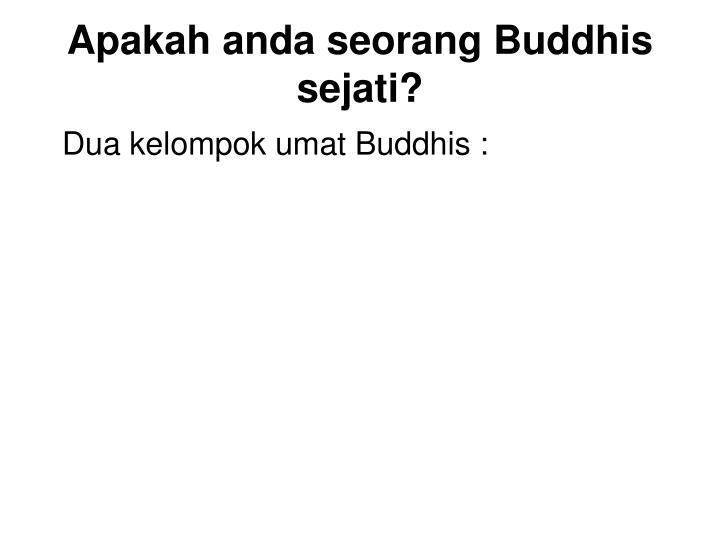 Apakah anda seorang buddhis sejati1