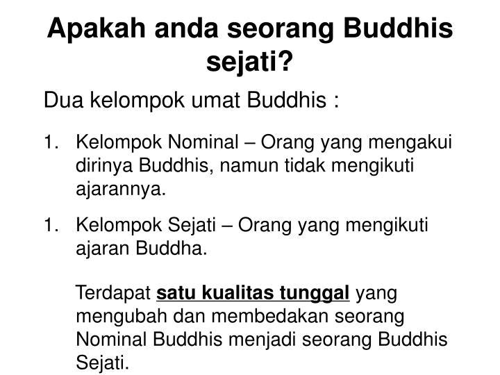 Dua kelompok umat Buddhis :