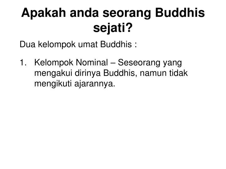 Apakah anda seorang buddhis sejati2