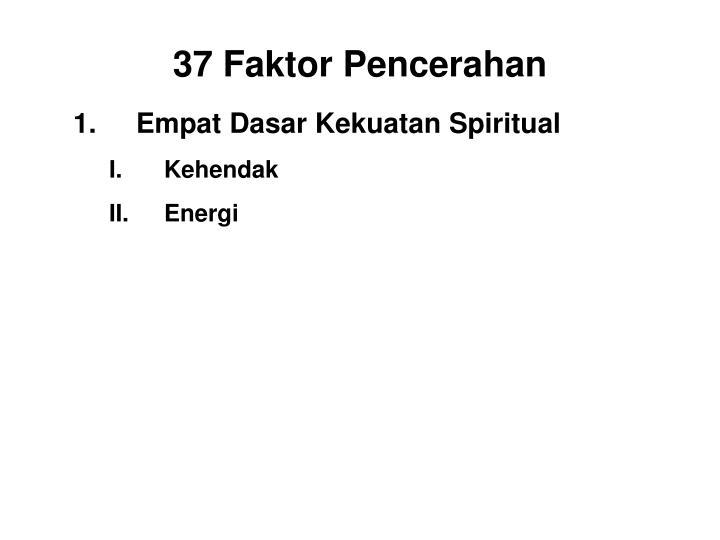 Empat Dasar Kekuatan Spiritual