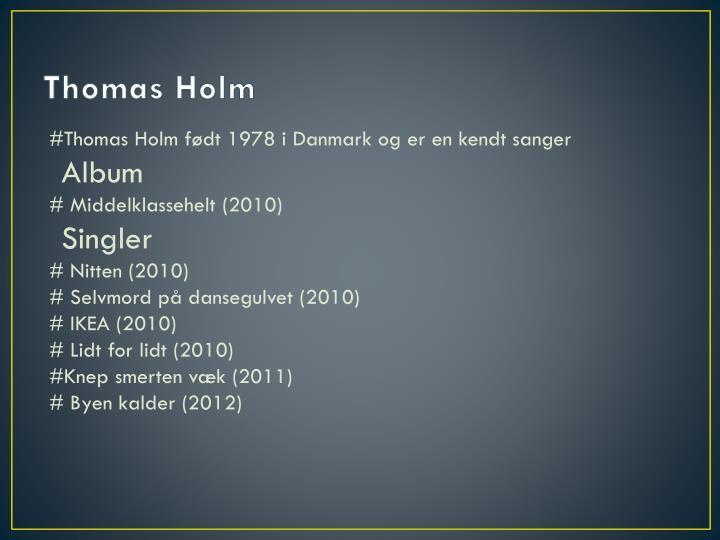 Thomas h olm