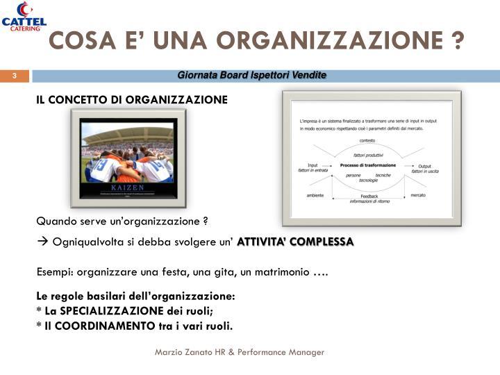 Cosa e una organizzazione