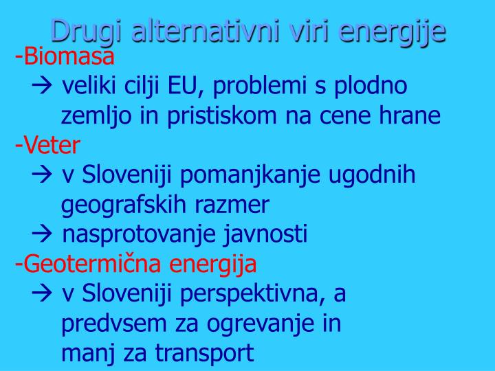 Drugi alternativni viri energije