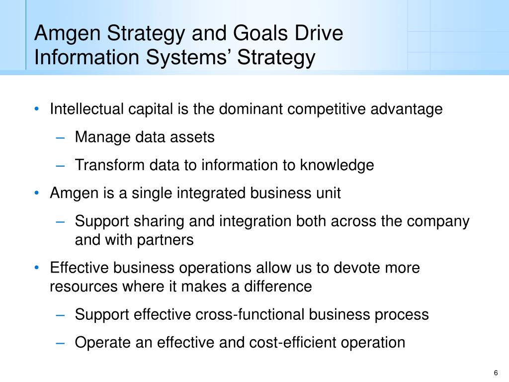 PPT - Amgen IS and POQ IS Overview Keith Brown June 2006