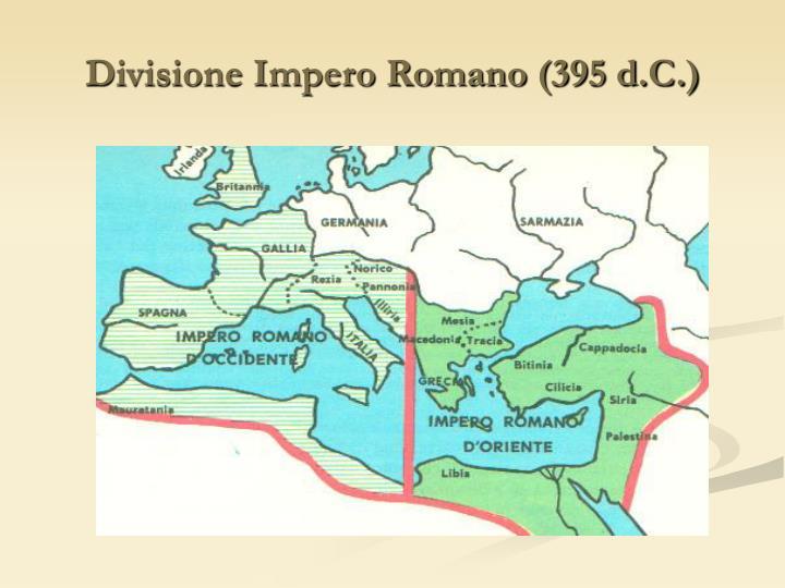 Divisione Impero Romano (395 d.C.)