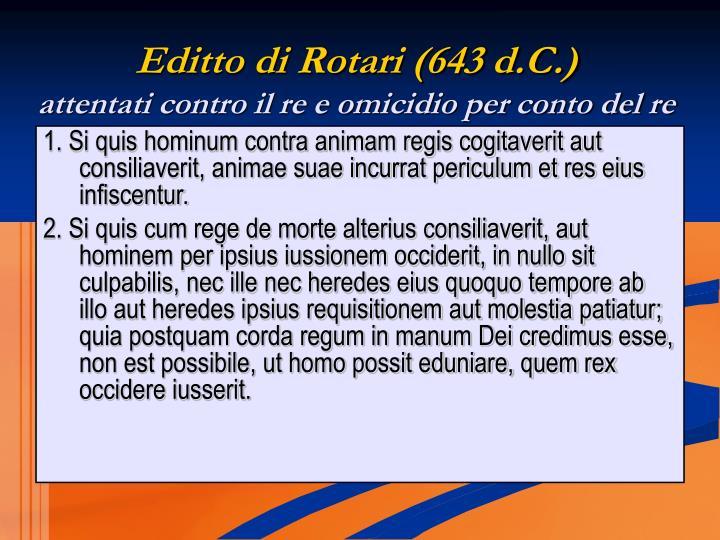 Editto di Rotari (643 d.C.)