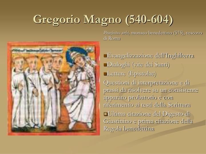 Gregorio Magno (540-604)