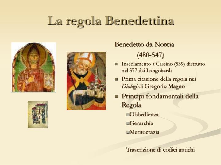 La regola Benedettina