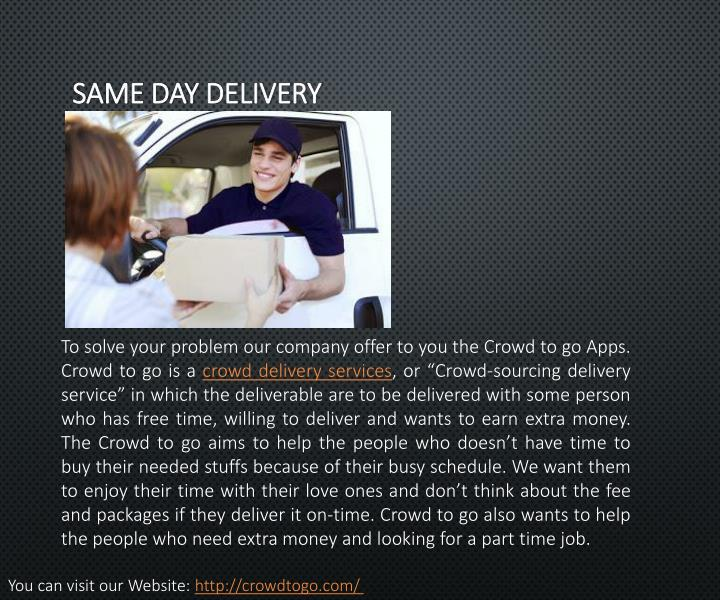 Same day delivery1