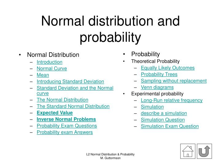 PPT - Normal distribution and probability PowerPoint