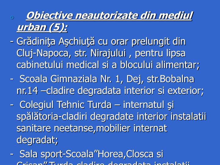 Obiective neautorizate din mediul urban