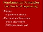fundamental principles for structural engineering
