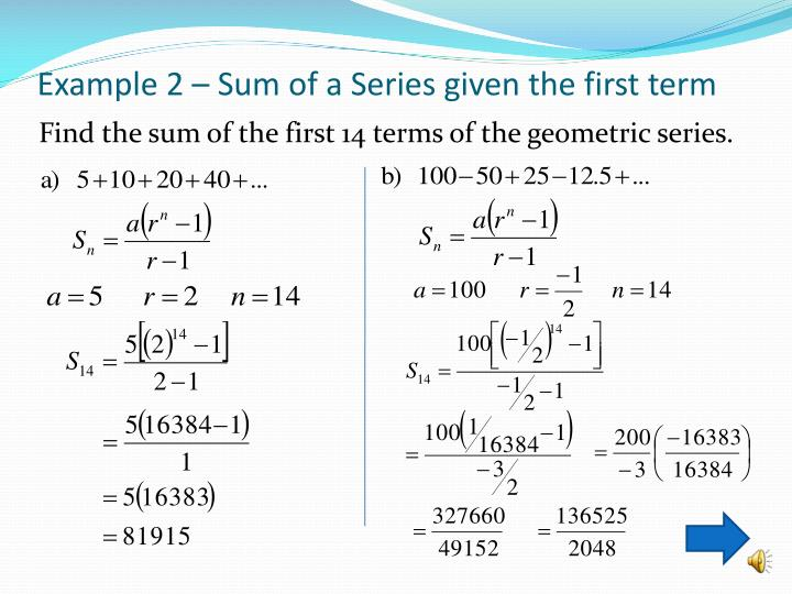 how to find the sum of an infinite geometric series