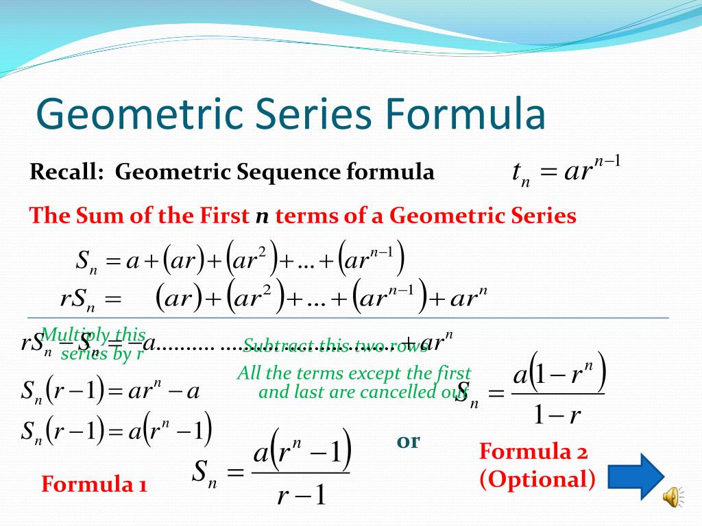PPT - Geometric Series PowerPoint Presentation - ID:5277215