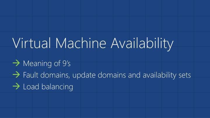 Virtual Machine Availability