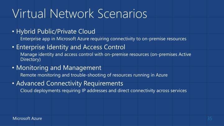 Virtual Network Scenarios