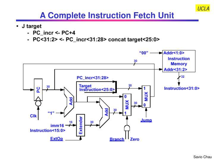 A Complete Instruction Fetch Unit
