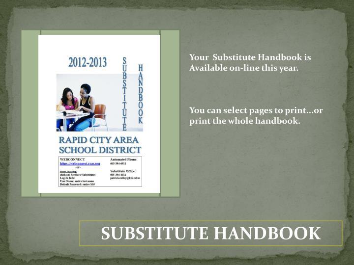 Your  Substitute Handbook is