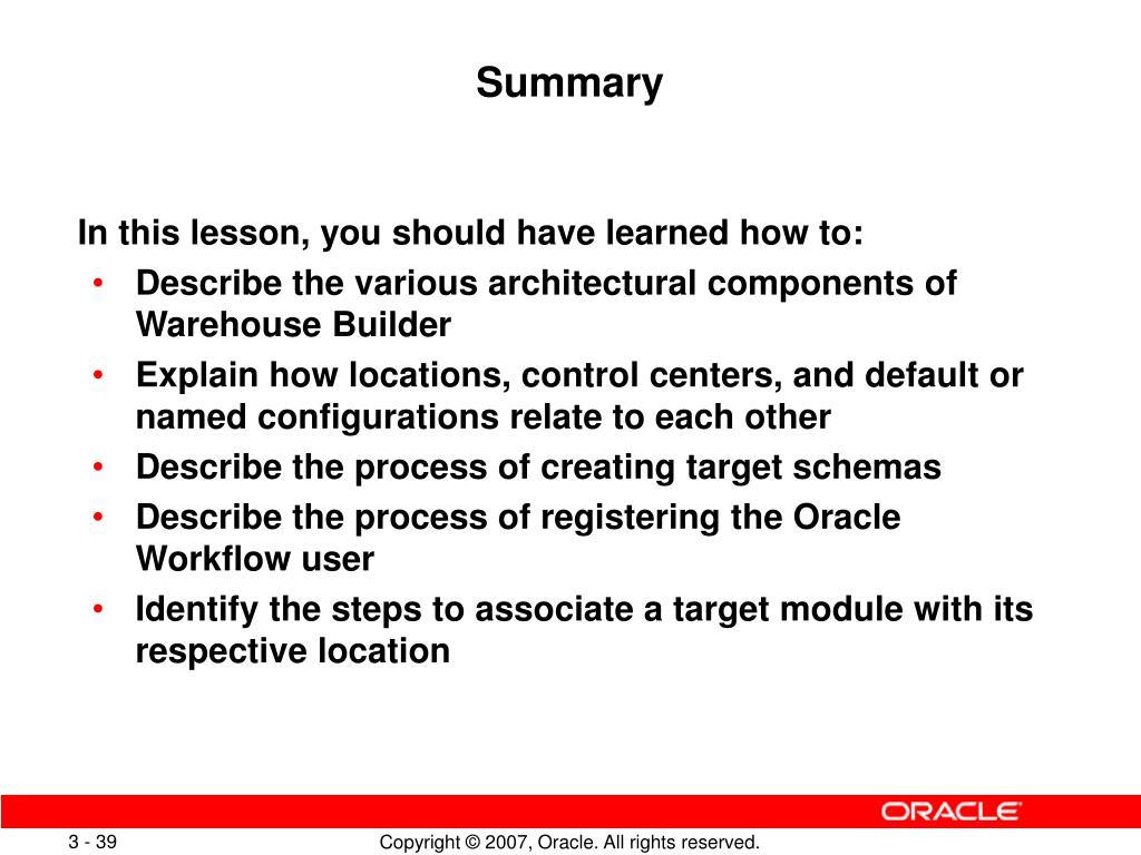 PPT - Understanding the Warehouse Builder Architecture PowerPoint