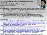 al qaeda israel to be next target