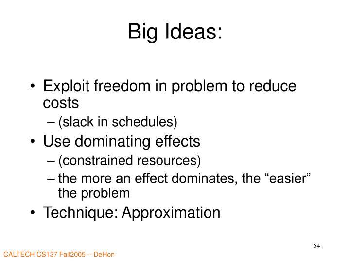 Big Ideas: