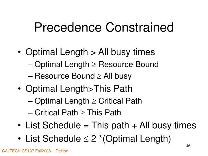 Precedence Constrained