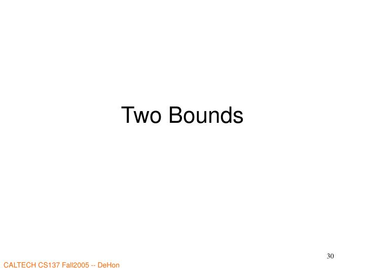 Two Bounds